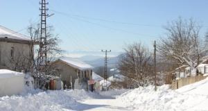 Eskiyayla da kar manzaraları