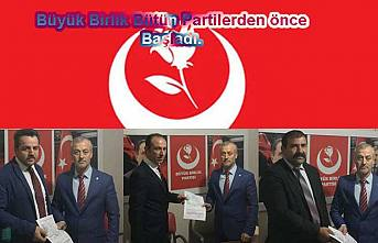 Büyük Birlik Partisi bugün 3 meclis aday adayını açıkladı.