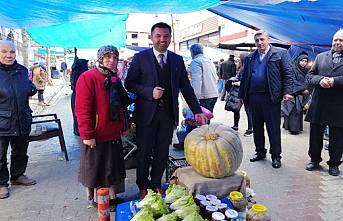 Pamukova Çiftçisi 49 kiloluk kabak yetiştirdi.