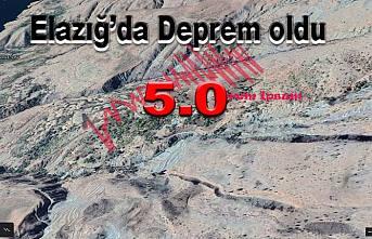 Elazığ'da arka arkaya depremler oluyor