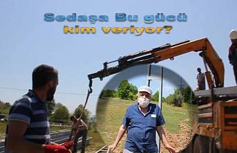 Eyyy Sedaş.... Milletin tarlasına izinsiz nasıl direk dikersin ?