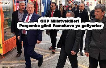 CHP Milletvekilleri Pamukova ya geliyorlar.