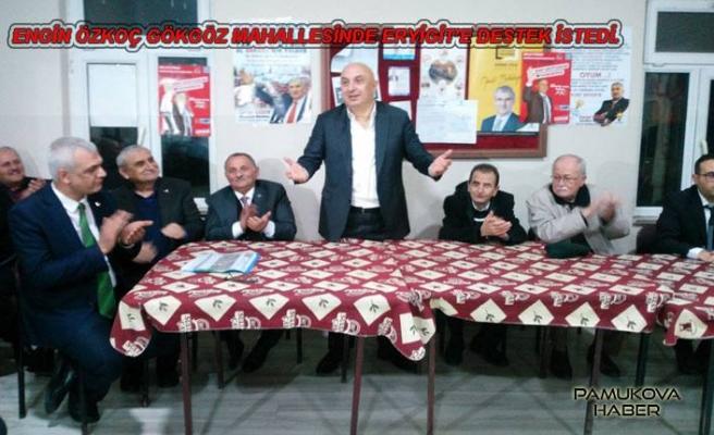 CHP ve İYİ Parti Adayları Gökgöz'de oy istediler.