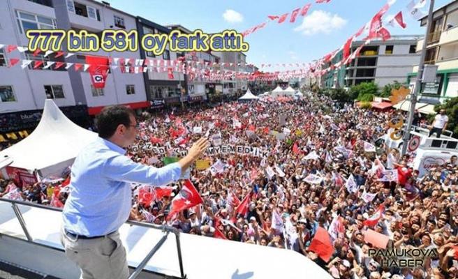 İmamoğlu bu sefer İstanbul'u 777 bin 581 oy farkla aldı.