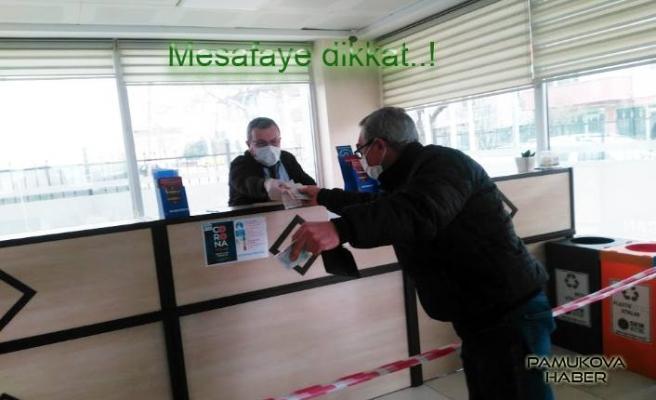 Pamukova'da Korona Virüs tedbirleri uygulanan yerlerde neler yapılıyor?