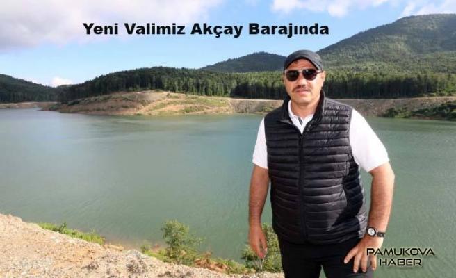 Yeni Vali Eskiyayla Akçay Havzası Tatlı Su Göletini inceledi.