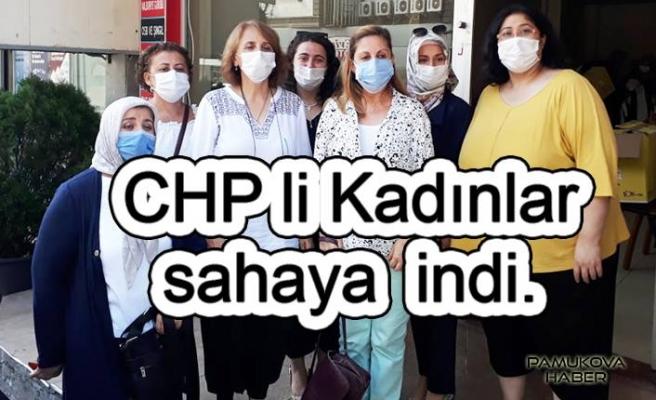CHP Kadın Kolları çalışıyor.