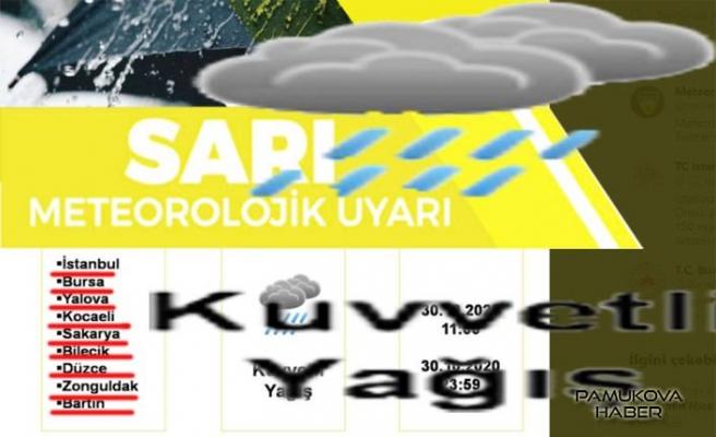 Meteoroloji Uyardı...! Marmara dahil Sakarya'da da yoğun yağış bekleniyor.