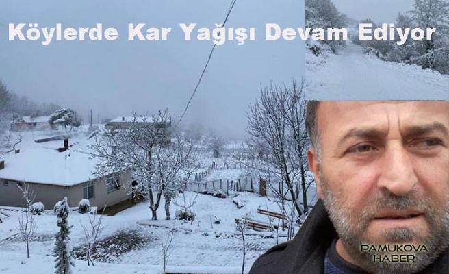 Pamukova ve çevresinde kar yağışı devam ediyor.