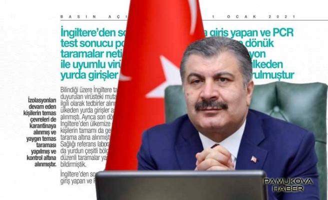 Türkiye'ye giren 15 kişide mutasyon tespit edildi.