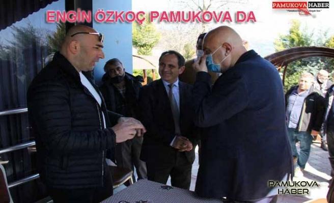 Engin Özkoç'un Pamukova ziyaretinden geriye kalanlar