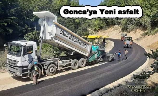 Pamukova Gonca yoluna sıfır km sıcak asfalt.