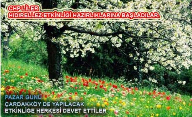 CHP liler Baharı karşılamaya hazırlanıyor.