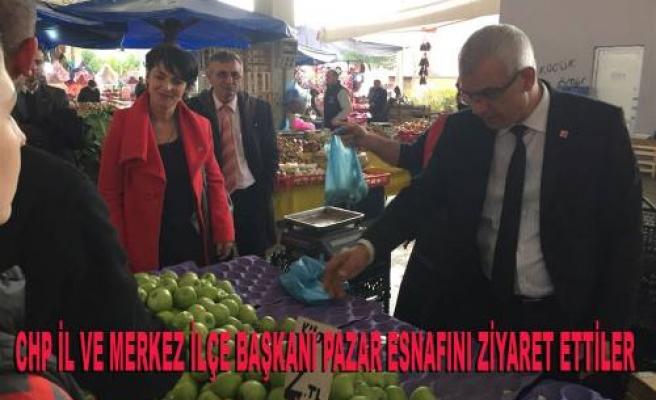 CHP'liler Adapazarı'nda Pazar Esnafını Ziyaret Ettiler