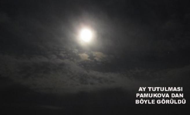 Dün gece Ay Tutulması Pamukova'dan böyle görüldü
