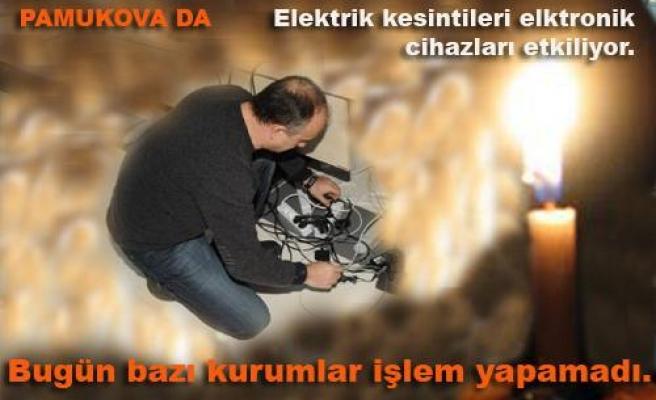Elektrik kesintileri elektronik cihazları etkiliyor.