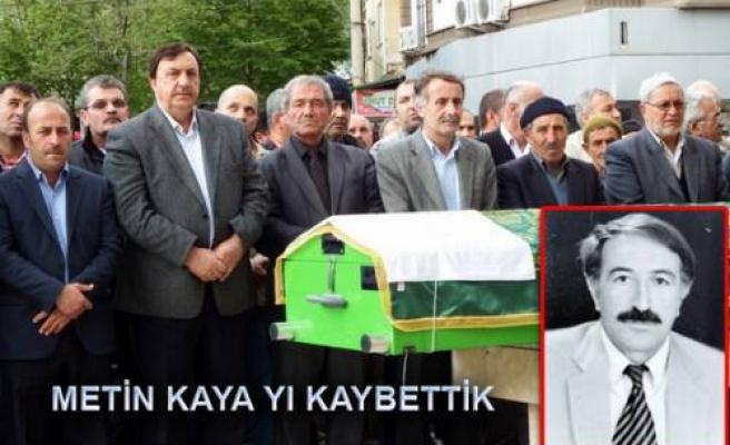 Metin Kaya öğretmeni kaybettik..