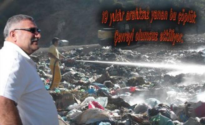 Pamukova çöplüğü yanmaya devam ediyor.