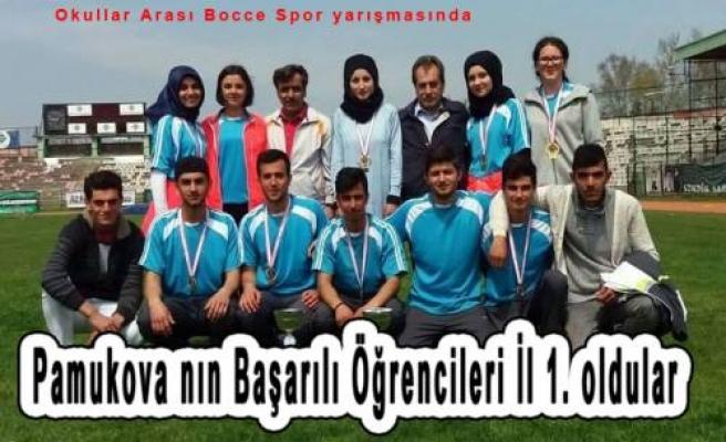 Pamukovalı Öğrenciler İl Şampiyonu oldular.