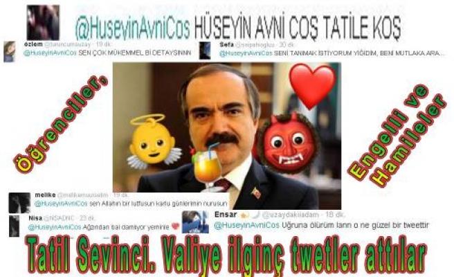 Vali Coş'un tatil tweet'i öğrencileri coşturdu.