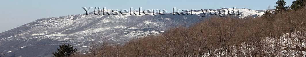 Pamukova Yükseklerine kar yağdı.