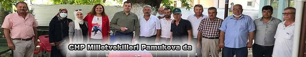 Pamukova CHP Milletvekillerini bağrına bastı.