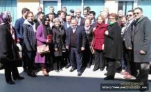 Pamukova CHP Milletvekillerinin ilgi odağı oldu.