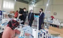 Pamukova'ya Maske Üretim Atölyesi açıldı.