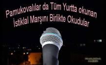 Tüm Ülkede Birlikte İstiklal Marşı söylendi.