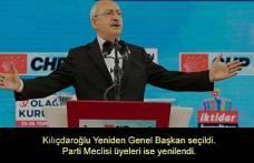 CHP37. Genel Kurulundan Kemal Kılıçdaroğlu yeniden başkan seçilirken, PM Üyeleri de yenilendi.