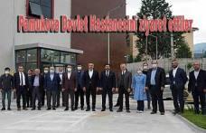Pamukova'da yapımı devam eden Yeni Hastaneye toplu ziyaret
