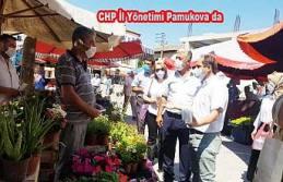CHP İl Yönetimi Pamukova esnafını ziyaret etti.