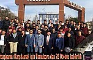Pamukova dan Cumhurbaşkanını Karşılamak için...