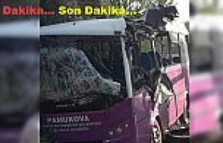 Pamukovahalk Otobüsü Kaza Yaptı.