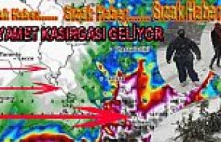 Dikkat, Pazar Günü Kasırga bekleniyor
