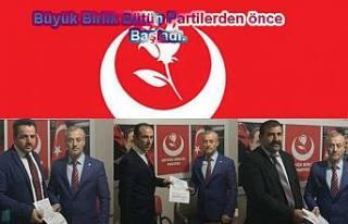 Büyük Birlik Partisi bugün 3 meclis aday adayını...