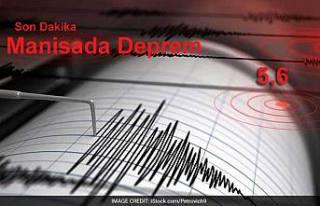 Ege Sallanıyor. 5.6 büyüklüğünde deprem....