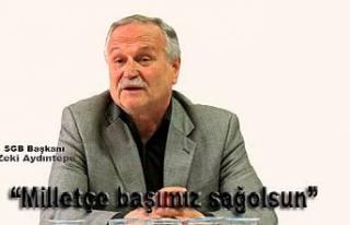 SGB Başkanı Aydıntepe Şehitlerimiz için mesaj...