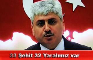 Son açıklama, 33 Şehit, 32 yaralımız var.