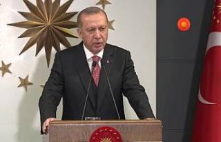 Cumhurbaşkanı Erdoğan 'Pamuk Eller Cebe' dedi.