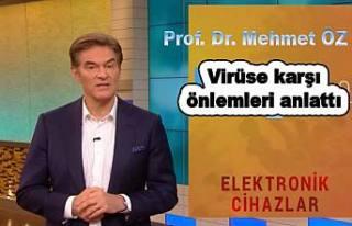 Doktor Mehmet Öz, Koronavirüse karşı tedbirleri...