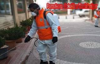 Pamukova Belediye ekipleri Koronavirüse karşı çaılışma...