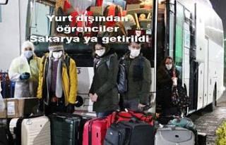 Yurt Dışından getirilen 345 öğrenci Sakarya'da...