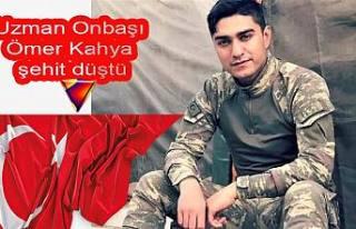Kuze Irak'ta Operasyonda 1 askerimiz şehit oldu.