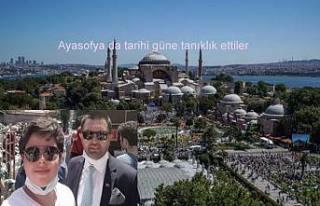 Ayasofya da namaz kılmak için binlerce kişi İstanbul'a...