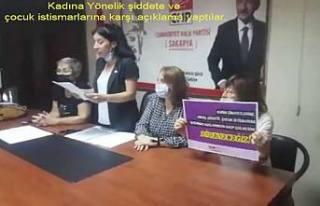 Sakarya 'da CHPli kadınlar kadına şiddet ve...