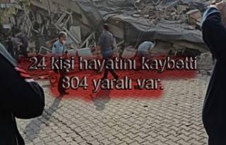 Depremde 24 kişi hayatını kaybetti, 804 yaralı...