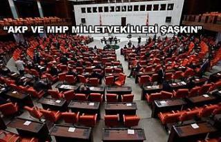 Muhalefet Mecliste AKP ve MHP ye gol attı.