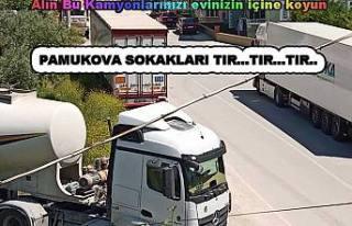 Pamukova'da Araç Parkı Sorunu Tırları yoldan...