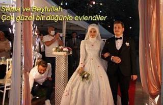 Sema ve Beytullah güzel bir düğünle hayatlarını...